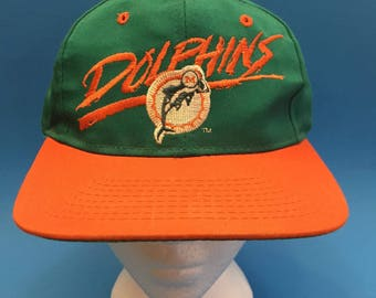 Vintage Miami Dolphins SnapBack Hat Adjustable 1990s
