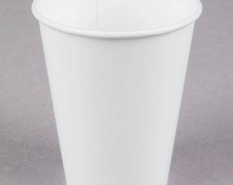50 White Poly Paper Cups 9oz Hot/Cold, Party Supplies, Wedding Supplies, Party, Wedding, Paper Cups, Beverage Cups, Cups, Supplies