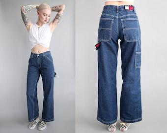 Wide leg jeans | Etsy