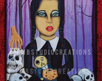 16 x 20 Wednesday Addams Poster Print