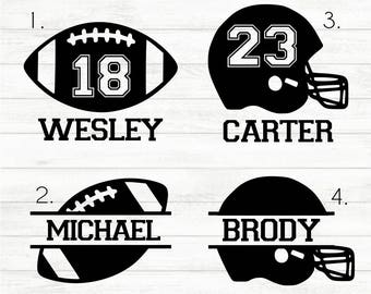 Football Decal - Personalized Football Decal - Football Sticker - Football Name Decal - Football Mom Decal - Football Car Decal - Sports