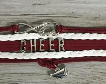 Cheerleading Gift -Cheer Bracelet – Cheer Gift - Cheerleading - Perfect for Cheerleaders, Cheer Coaches & Team Gifts