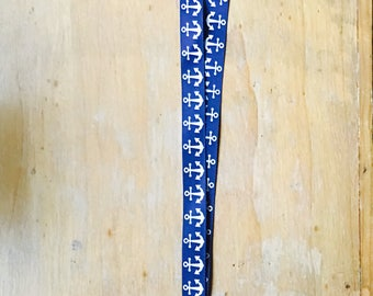 Anchor Lanyard Blue/White Party Favor Giveaway Nautical New