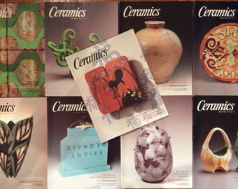 Ceramics Monthly Magazines - Full Year (9 Issues) from 2007