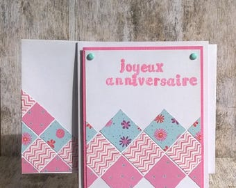 Birthday card with its envelope