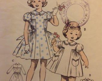 1950s Weigels girls dress frock pattern 21 in