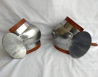 Steel Knee Cops Medieval Armour Knee Protection Historical Armour Knee Steel Cops for protection renaissance replica costume steel