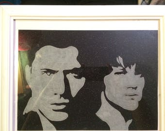 Sam Winchester and Dean Winchester , the Winchester brothers art framed !Supernatural