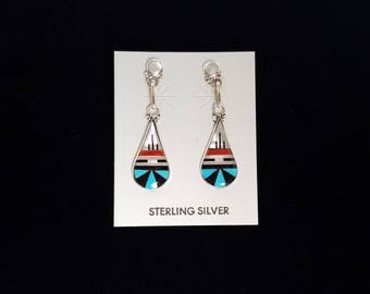 Zuni Inlay Earrings by Bernadette Boone