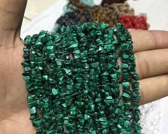 Malachite chips beads,malachite uncut chips beads ,