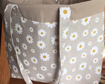 Handmade daisy bag