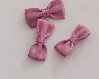 Pink small bow tie color 30 mm