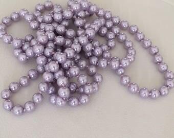 Light purple 8 mm glass Perle 160