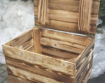 Wooden box with lid. Chest, Toy box, wooden box, wood chest, storage, game box, toy crate, nursery, laundry box, washing