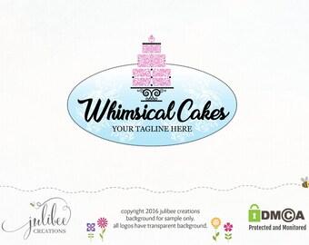 cake logo bakery logo boutique logo design logos with cakes whimsical logo wedding cake logo wedding bakery cake shop