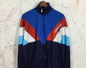 Sale 25% Vintage 90s Adidas Bootleg Track Top Trainer Retro Style Jacket Zipped Hip Hop Swag