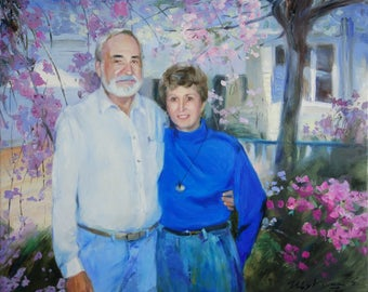 Custom portrait on canvas, Custom oil painting, Custom Oil Portrait, Commission portrait, Oil painting from photo, luxury gift