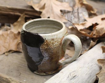 Chocolate Brown Slip Designed Mug 12oz