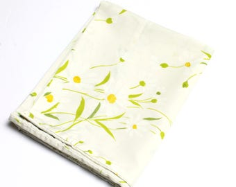 Vintage Daisy Floral Pattern Single Pillowcase