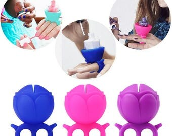 Silicone ring support is varnished manicure easy nail polish bottle holder