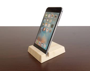 Natural Bamboo iPhone stand. iPhone X Stand. Wood iPhone 6 6S 7 7S 8 8S stand. Wooden iPhone Stand. Bamboo iPhone Stand