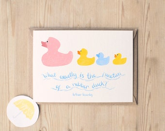 Harry Potter Card | Harry Potter Birthday Card | Harry Potter Quote | Funny Harry Potter Card | Duck Card | Rubber Duck Card | Weasley Card