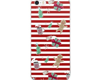 Christmas Stripes Holiday iPhone Case