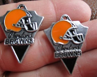 Set of 2 Charms inspired by Cleveland Browns