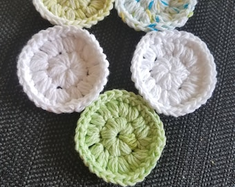 100% Cotton Face Scrubbies - assortment