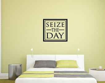 Seize the Day Home and Family Vinyl Wall Decal