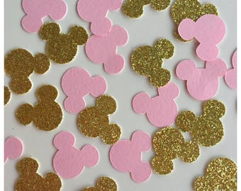 Minnie Mouse Party Decoration - Pink Minnie Mouse Party Supplies - Pink and Gold Minnie Birthday -  Minnie Decoration -Minnie Mouse Confetti