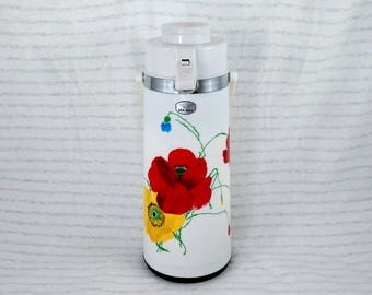AirPot/Coffee Server by Seagull, Red and Yellow Poppies