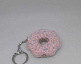 Donut keychain, donut plushie, crochet donut, donut keyring, crochet donut keychain, best friend keychains, amigurumi donut, donut amigurumi