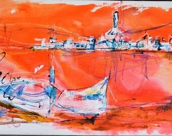 Navy Board, red, Port, boat
