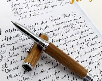 Amazique wood Roller Ball Pen (Easebourne Chrome 1347)