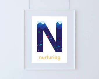 Letter N for Nurturing Kids Art Printable