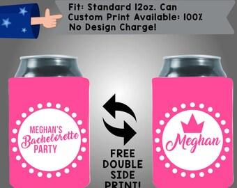 Name's Bachelorette Party Princess Bride to Be Collapsible Neoprene Bachelorette Cooler Double Side (Bachelorette45)