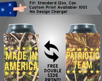 Made in America Collapsible Fabric Can Coolers (Etsy-America04)