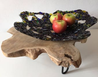 """Fruit Bowl """"Wooden Shadow"""""""