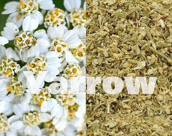 dried YARROW tea, 30g/1oz/0.07lb - achillea millefolium, dried yarrow tea, organic tea, ecological