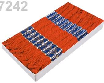 24 Docking Embroidery/stick twist #7242 Harvest Pumpkin
