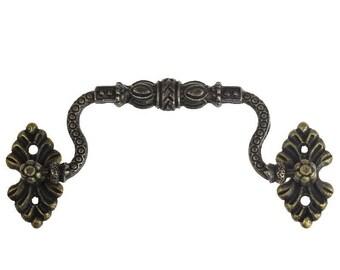 50 drawer handles, 115 x 42 mm, antique brass