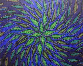 Painting: spiral leaves.