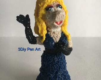 "Miss Piggy figure from ""The Muppet show"" handmade"