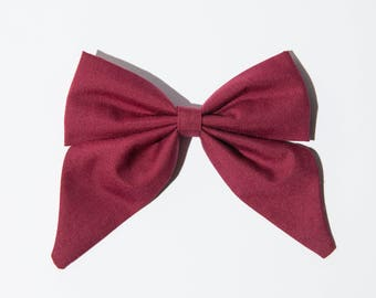 Wine Red Sailor Bow