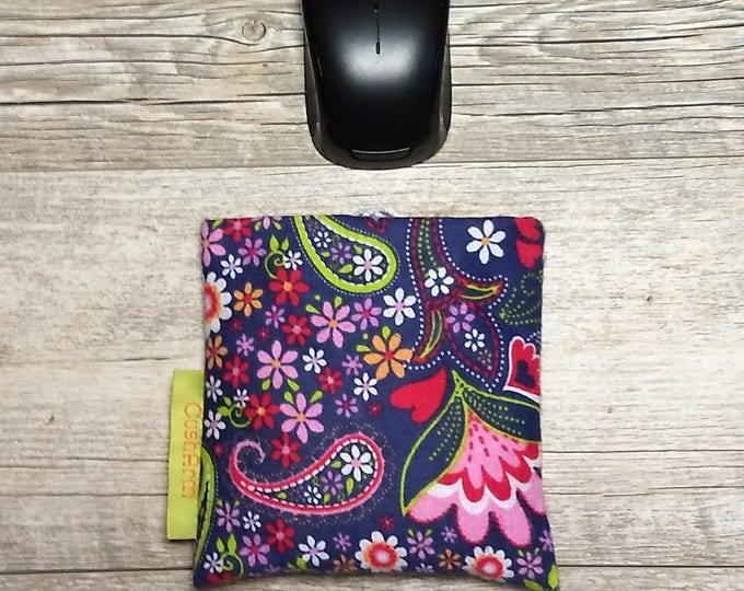 Whimsical  Floral Mini Computer Wrist Support, perfect for a stand up desk, Comfort and Support