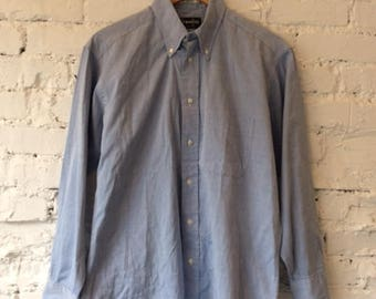 Vintage Gitman Bros Cotton Button Down Dress Shirt / Oxford / 90s 1990s / Made in USA