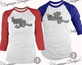 Wifey Hubby Baseball TShirts Bella Canvas 34 Sleeve Triblend Wedding T Shirt Set