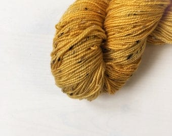 4ply Donegal Tweed - Mustard