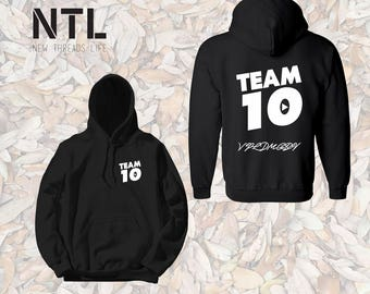 Official Team 10 Official Unisex hoodie Ask a question Team 10 Jake Paul JP hoodie best price fast shipping Unisex  we have sizes for kids